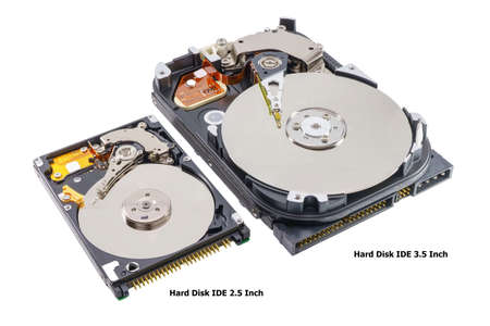 Hard disk drive removable case for repair on a white background.