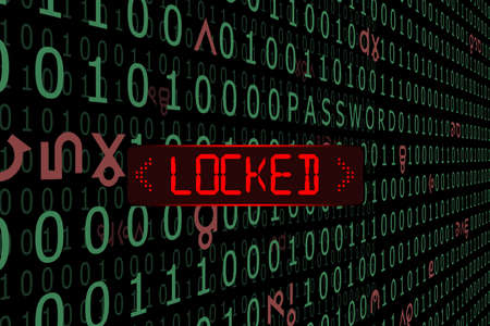 The data system was hacked is locked.