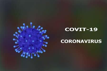 Coronavirus 2019-nCov outbreak concept as dangerous flu strain cases as a pandemic medical health.