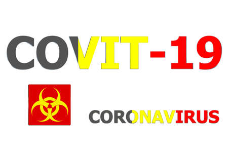 3D Flag of Belgium on a Covit-19 text background.