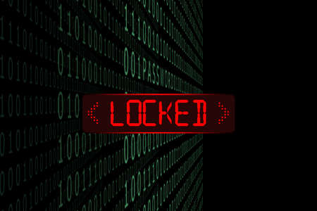 The data system is locked. Banco de Imagens