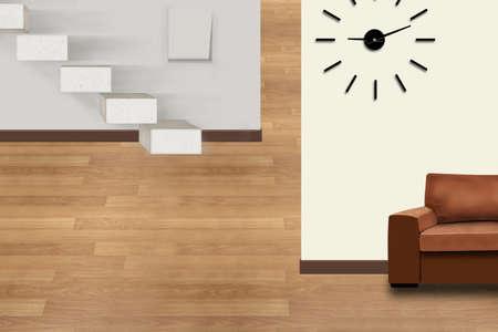 The modern living room. 3D design concept. Banco de Imagens - 155973372