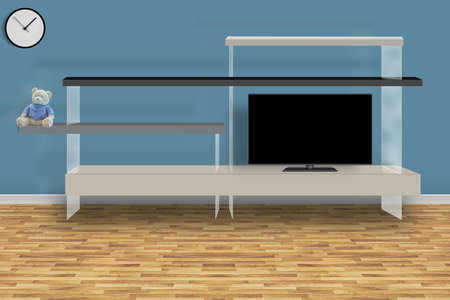 The modern living room. 3D design concept.