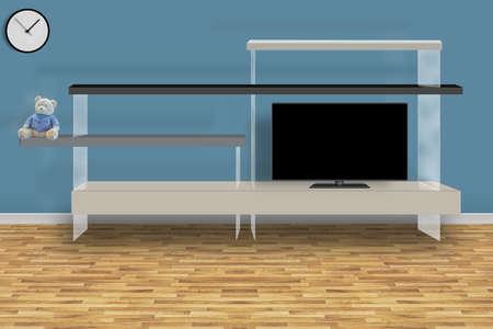 The modern living room. 3D design concept. Banco de Imagens - 155419124