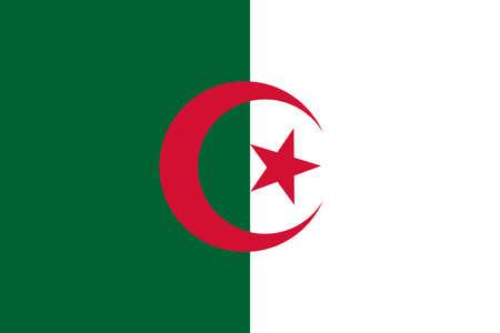 Abstract 3D Flag of Algeria. Ilustração