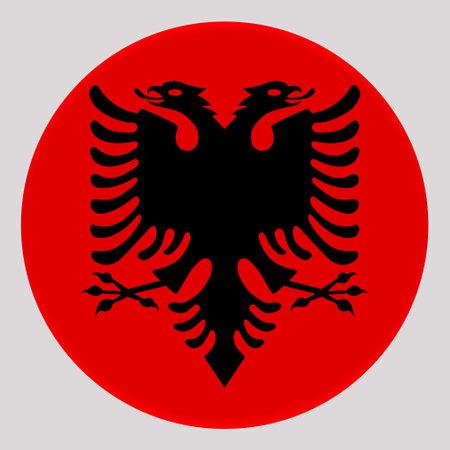 3D Flag of Albania on avatar circle.