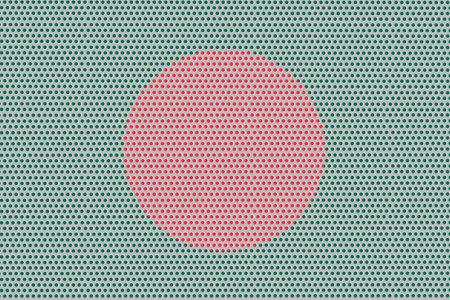 3D Flag of Bangladesh on a metal wall background. Banco de Imagens