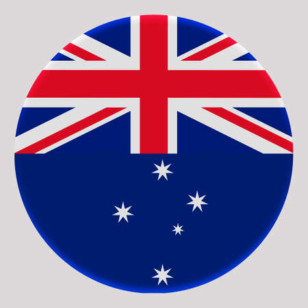 3D Flag of Australia on avatar circle.