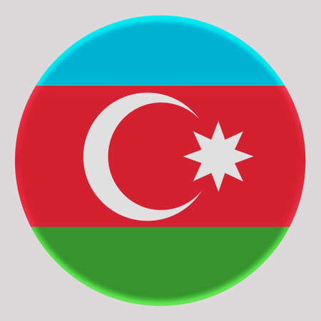 3D Flag of Azerbaijan on avatar circle.