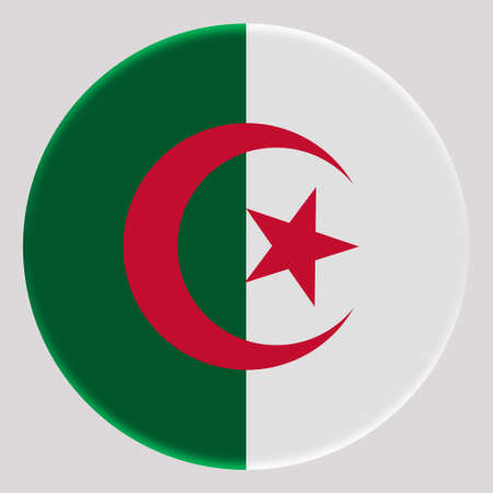 3D Flag of Algeria on avatar circle.
