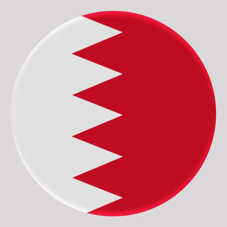 3D Flag of Bahrain on avatar circle.