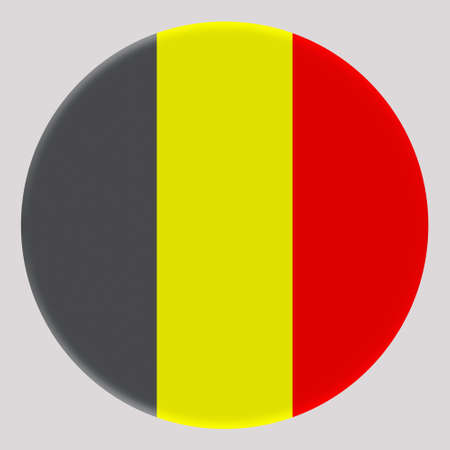 3D Flag of Belgium on avatar circle. Banco de Imagens - 164958257
