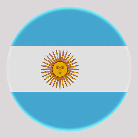 3D Flag of Argentina on avatar circle. Banco de Imagens