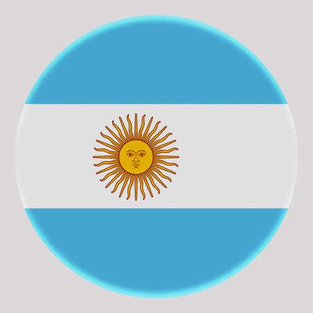 3D Flag of Argentina on avatar circle. Banco de Imagens - 164958260