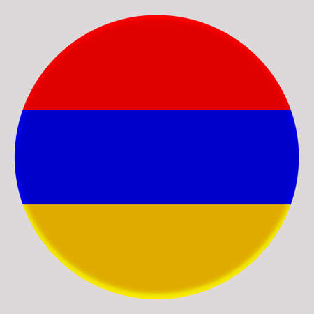 3D Flag of Armenia on avatar circle. Banco de Imagens