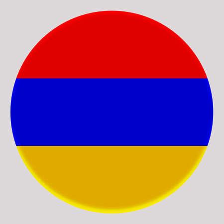 3D Flag of Armenia on avatar circle. Banco de Imagens - 164958409