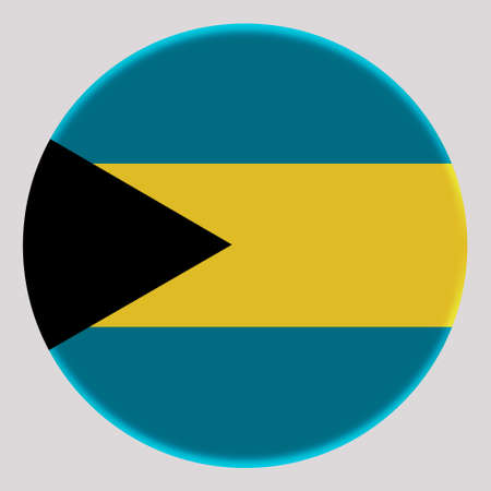 3D Flag of Bahamas on avatar circle. Banco de Imagens
