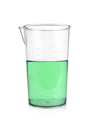analytical chemistry: laboratory glassware isolated on white background