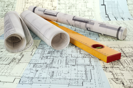 construction plans: level and project drawings