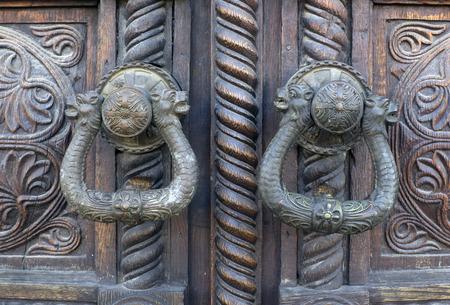 ancient door locks photo