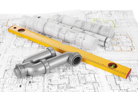 project drawings, level and  siphon for sewer