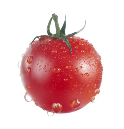tomato cherry: Tomato cherry isolated on white.