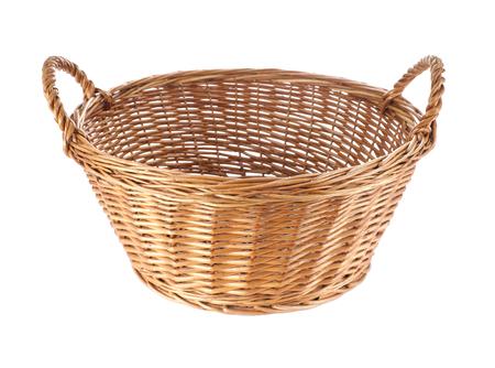 interleaved: Basket isolated on white  Stock Photo