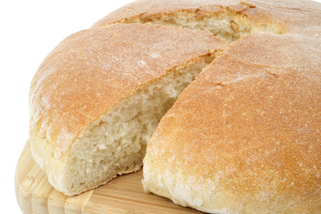 rubicund: Round loaf of bread Stock Photo