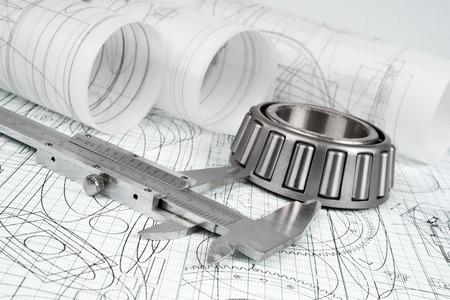roller bearing, vernier callipers  and drawings