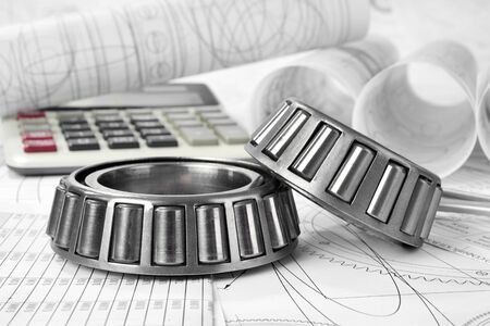 friction: roller bearings, calculator and drawings