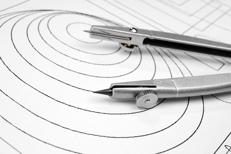 compasses: Drawing detail and compasses