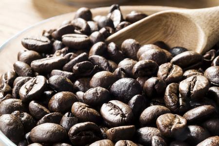 tat: Coffee beans. Selective focus. Stock Photo