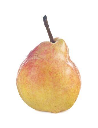Ripe pear isolated on white background photo