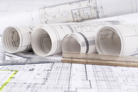 Architektonisches Projekt Standard-Bild - 35967981
