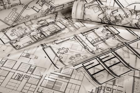 Architektonisches Projekt Standard-Bild - 99972362