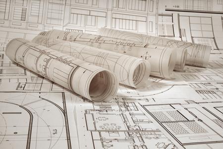 Architektonisches Projekt Standard-Bild - 99904223