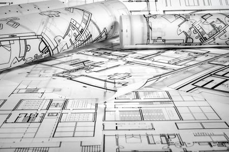Architektonisches Projekt Standard-Bild - 99910671