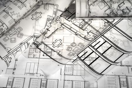 Architektonische Projektzeichnungen Standard-Bild - 99885809