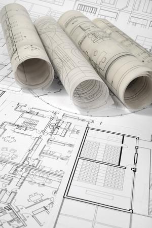 Architektonische und Bauplan Zeichnungen Standard-Bild - 99885811