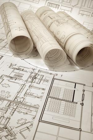 Architektonische und Bauprojekt Standard-Bild - 99904239
