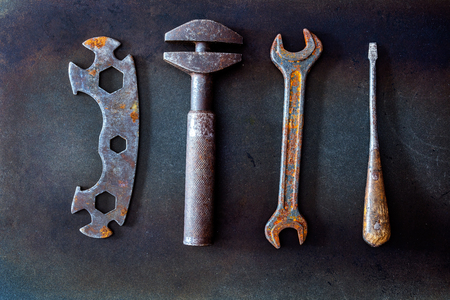 old tools on background Standard-Bild - 101533431