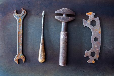 old tools on background Standard-Bild - 101841084