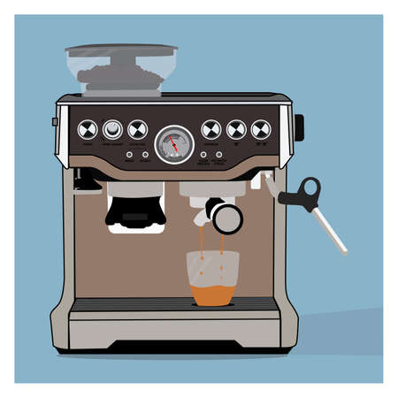 a vector coffee machine perfect for design project