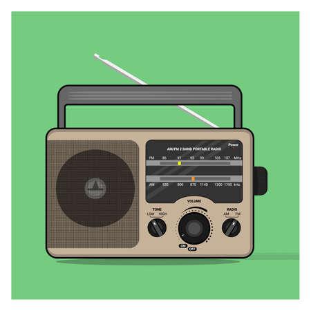 a vector classic retro vintage radio