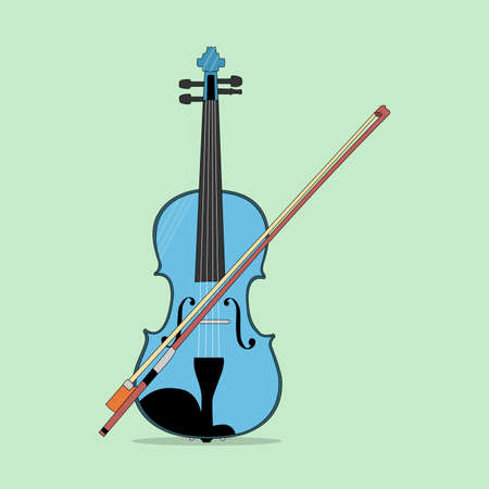 a vector violin perfect for design project