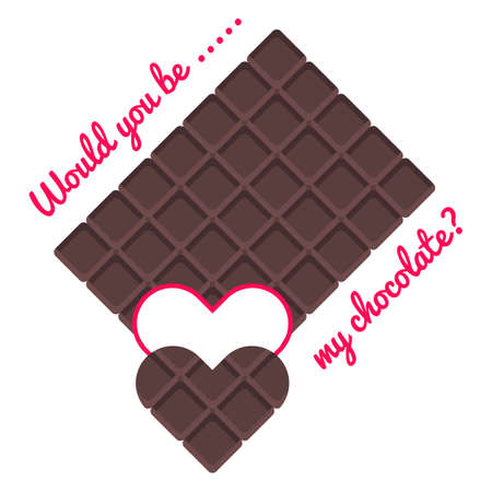 would you be my chocolate for valentine? perfect for background or gift wrapping
