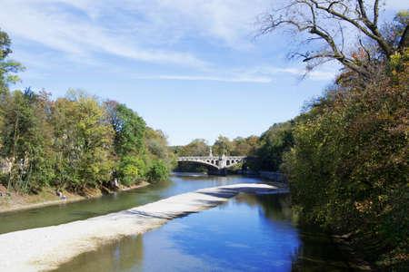 Isar river in Munich photo