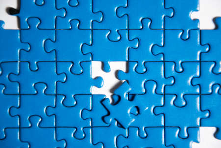 detail of puzzle Stock Photo