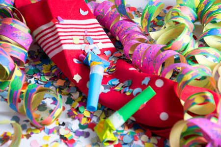 party background: colourful decoration