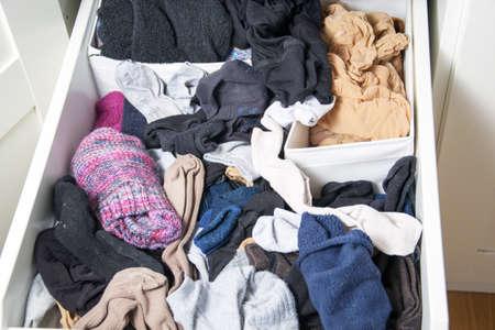 disarray: wardrobe